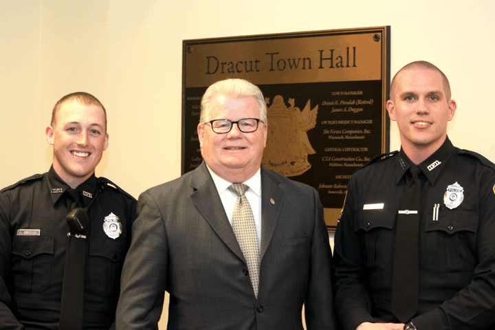 Dracut welcomes two new Officers